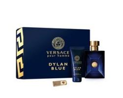 Dylan Blue Versace Set - Eau de Toilette 100ml + Shower gel 100ml + Money Clip
