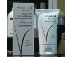 Maschera Viso Purificante con Kaolin, Mentolo ed Estratto di Avocado 40ml - Vitamol Biosoft