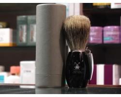 MUHLE - Pennello da Barba con manico in resina NERO - SERIE BASIC